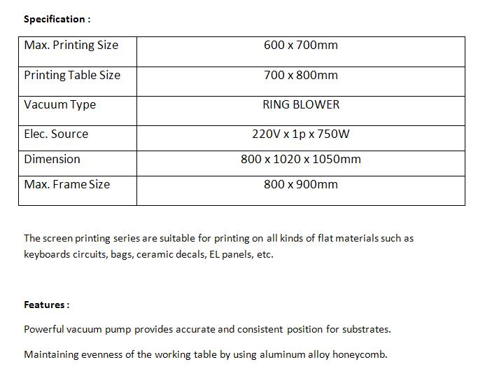 manual screen printing machine 2